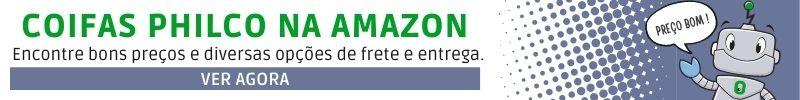Banner de bons preços coifas Philco na Amazon
