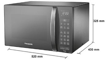 Micro-ondas Panasonic NN-ST67HSRU minimalista em inox