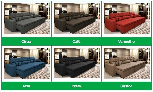Opções de cores do Sofá Cairo
